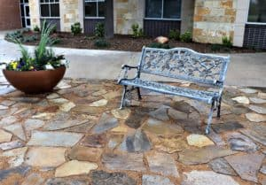 Oklahoma Flagstone Sitting Area