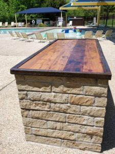 Panther Creek Estates Custom pool security desk made by Rocky Freeman