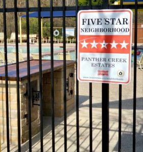 Panther Creek Estates Five Star Neighborhood