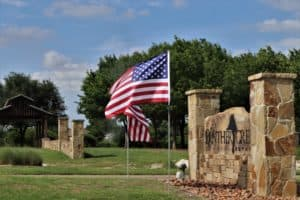 Panther Creek Estates Entrance on Memorial Day