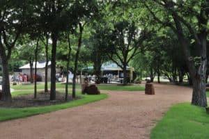 Panther Creek Estates park in spring