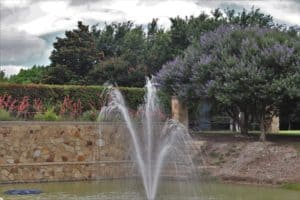 Panther Creek Estates south fountain repaired by Haven