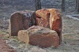 Panther Creek Estates landscape boulders