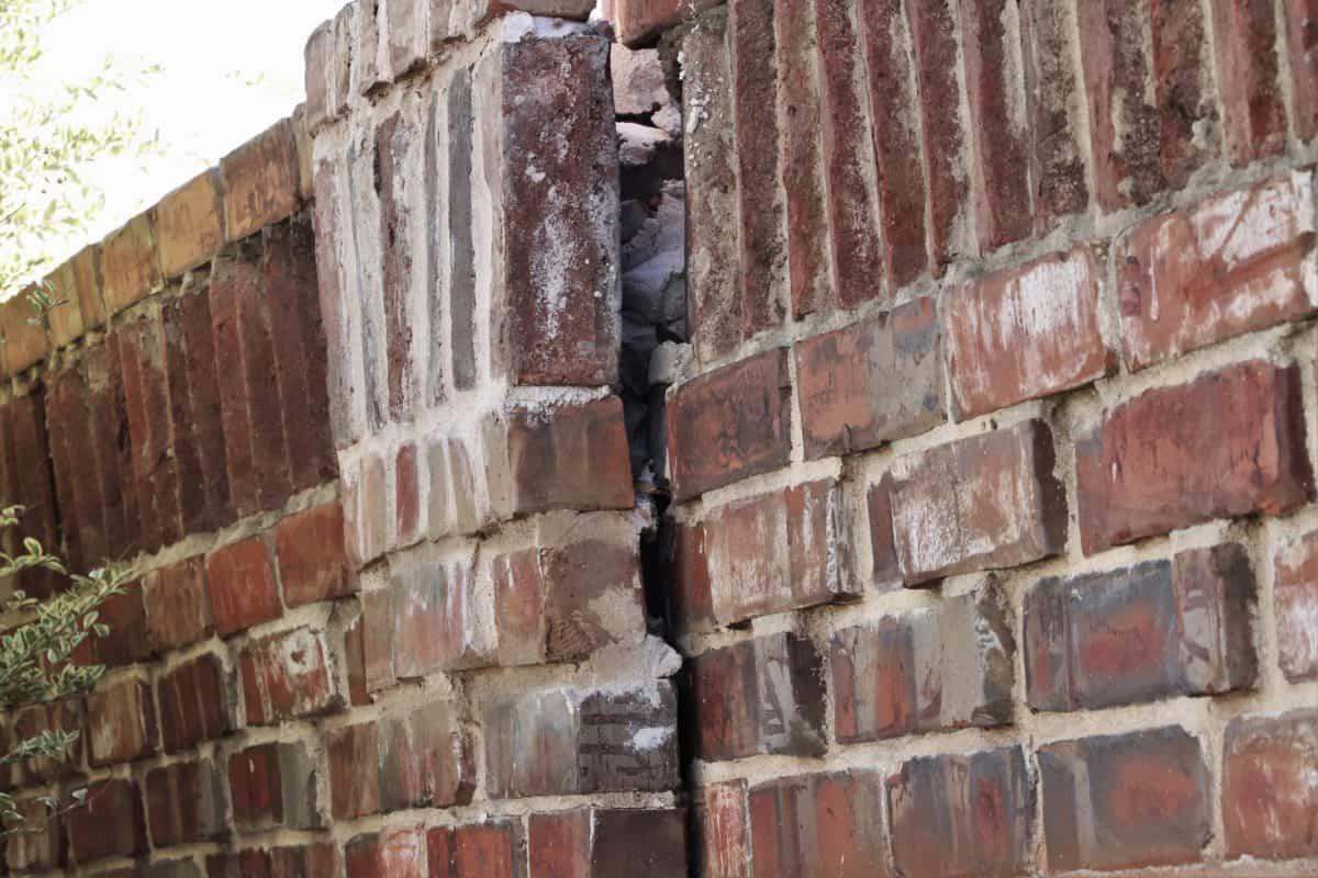 Brick wingwall needs repair