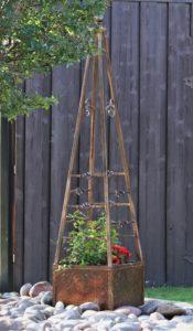 Haven Landscaping obelisk planter